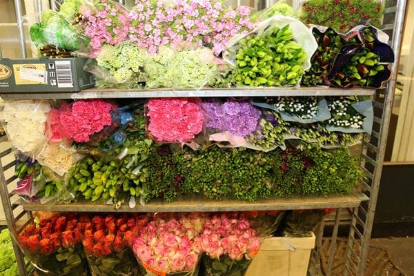 Buying flowers in the Netherlands